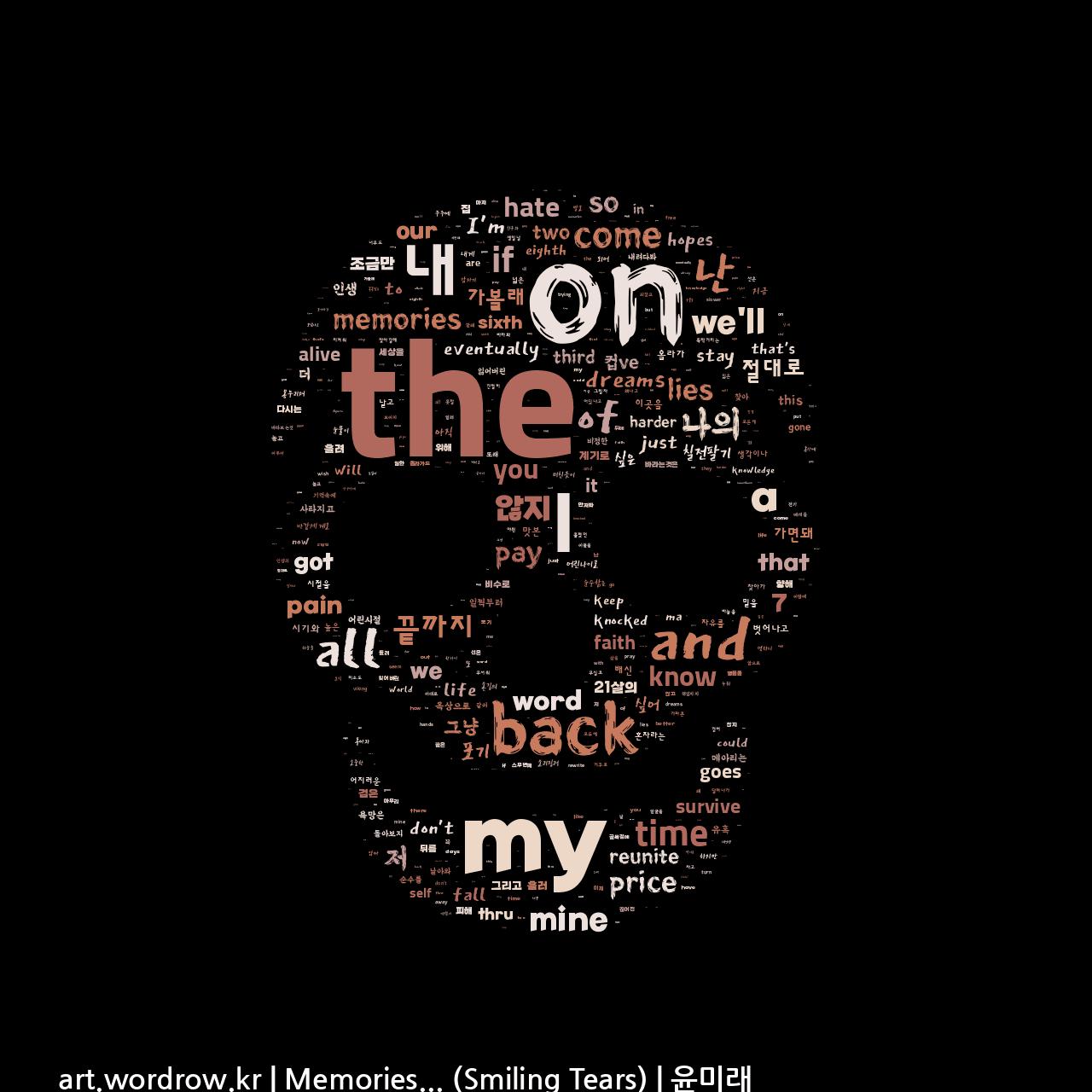 워드 클라우드: Memories... (Smiling Tears) [윤미래]-73